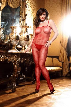 Spanish Чулок на тело Q (46-52), красный