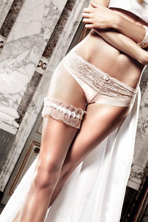 Accessoires Подвязка белая из тюля с рюшечками