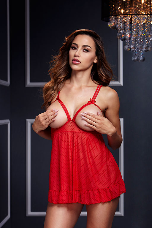 Комплект эротического белья: сорочка и трусики