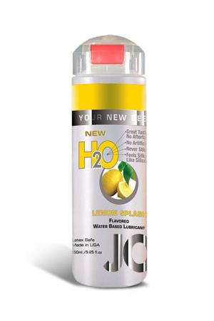 Ароматизированный любрикант на водной основе JO Flavored Lemon Splash , 5.25 oz (150 мл)