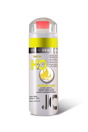 Ароматизированный любрикант на водной основе JO Flavored Banana Lick, 4 oz (120мл.)