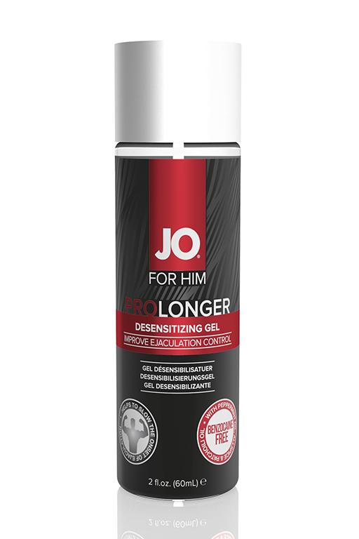 Пролонгирующий стимулирующий гель JO PROLONGER GEL - FOR HIM (BENZOCAINE FREE) - 2fl.oz/60mL