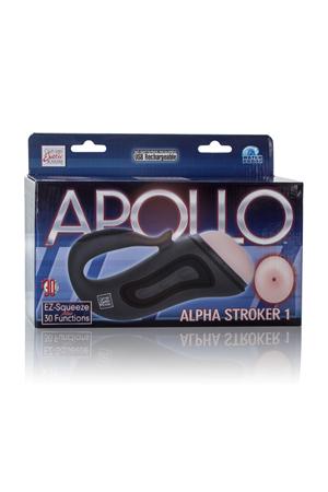 Мастурбатор-анус Apollo™ Alpha Stroker™ Alpha Stroker™ 1 с вибрацией серый