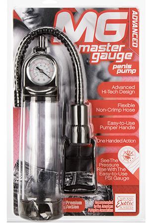 Вакуумная помпа со встроенным манометром   MASTER GAUGE PENIS PUMP