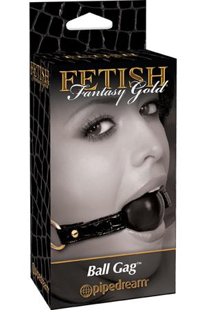 Кляп Fetish Fantasy Gold Ball Gag черный с золотом