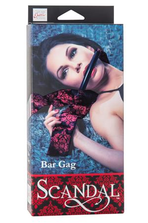 Кляп-бар Scandal Bar Gag черный с красным