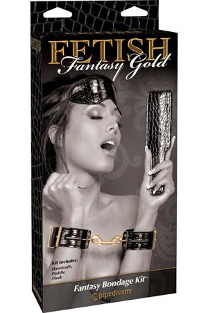 Набор для бондажа Fetish Fantasy Gold Fantasy Bondage Kit черный с золотом