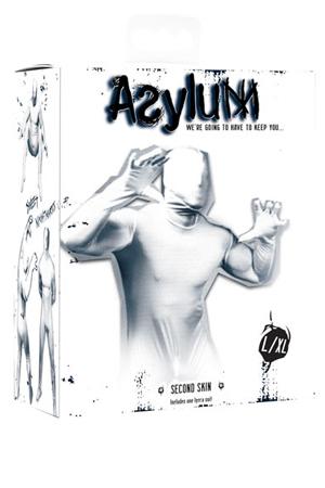 Кэтсьюит Asylum с маской на голову, белый, L/XL