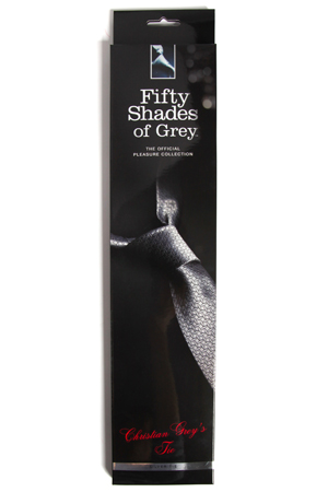 Фиксация  в виде галстука Christian Grey's Silver Tie серебристый